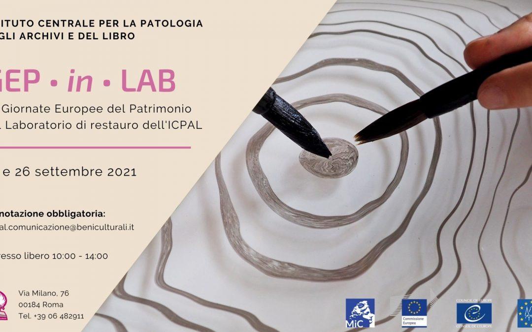 Le Giornate Europee del Patrimonio nel Laboratorio di restauro dell'ICPAL